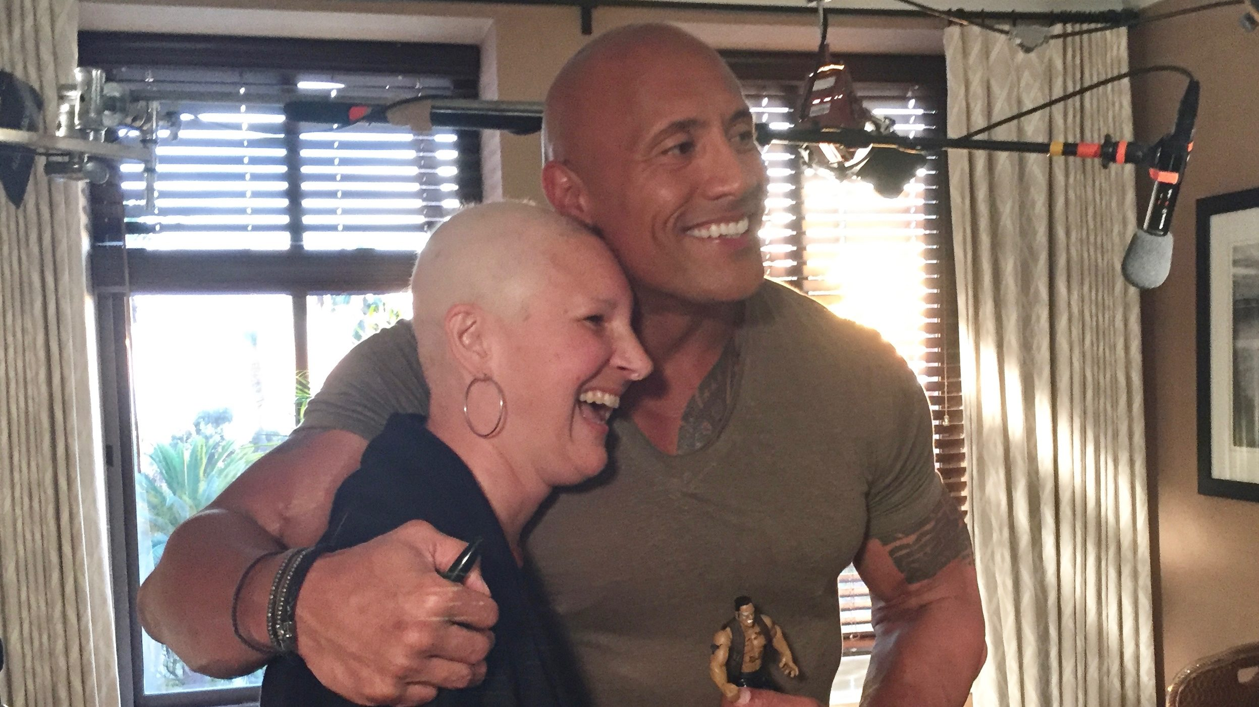 "Erica Chase-Salerno and Dwayne ""The Rock"" Johnson"